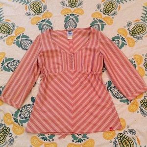 The North Face Striped Pink Blouse